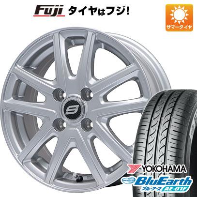 タイヤはフジ 送料無料 BRANDLE ブランドル M61 5.5J 5.50-14 YOKOHAMA ブルーアース AE-01F 175/65R14 14インチ サマータイヤ ホイール4本セット