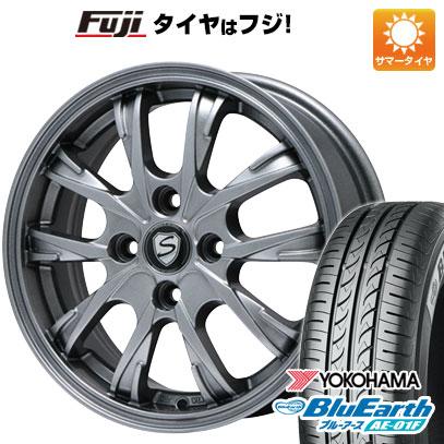 タイヤはフジ 送料無料 BRANDLE ブランドル 486 5.5J 5.50-14 YOKOHAMA ブルーアース AE-01F 185/70R14 14インチ サマータイヤ ホイール4本セット