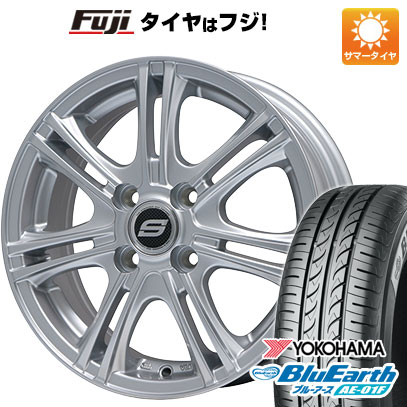タイヤはフジ 送料無料 BRANDLE ブランドル M68 5.5J 5.50-14 YOKOHAMA ブルーアース AE-01F 165/70R14 14インチ サマータイヤ ホイール4本セット