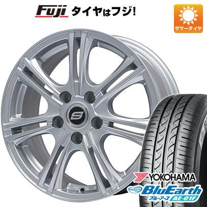 8月 2・5・8日はポイント倍増! タイヤはフジ 送料無料 BRANDLE ブランドル M68 6.5J 6.50-16 YOKOHAMA ブルーアース AE-01F 185/55R16 16インチ サマータイヤ ホイール4本セット
