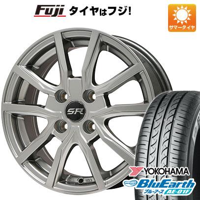 タイヤはフジ 送料無料 BRANDLE ブランドル N52 5.5J 5.50-15 YOKOHAMA ブルーアース AE-01F 175/65R15 15インチ サマータイヤ ホイール4本セット