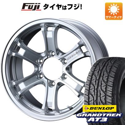 タイヤはフジ 送料無料 WEDS ウェッズ キーラー フォース 7J 7.00-16 DUNLOP グラントレック AT3 265/70R16 16インチ サマータイヤ ホイール4本セット