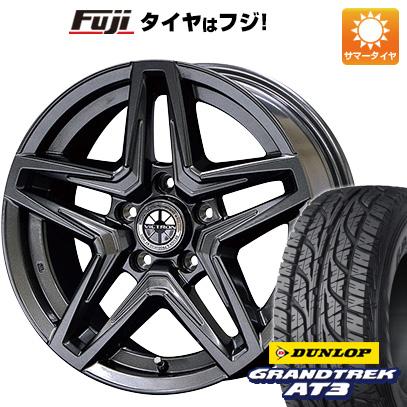 タイヤはフジ 送料無料 JAOS ヴィクトロン アステラ CM-03 7J 7.00-16 DUNLOP グラントレック AT3 235/70R16 16インチ サマータイヤ ホイール4本セット