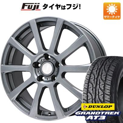 タイヤはフジ 送料無料 BRANDLE ブランドル 565T 6.5J 6.50-16 DUNLOP グラントレック AT3 215/70R16 16インチ サマータイヤ ホイール4本セット