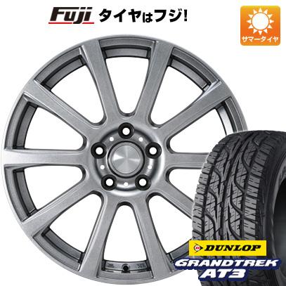 タイヤはフジ 送料無料 カジュアルセット タイプB17 メタリックグレー 6.5J 6.50-16 DUNLOP グラントレック AT3 215/70R16 16インチ サマータイヤ ホイール4本セット