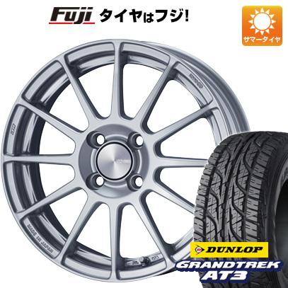 タイヤはフジ 送料無料 ENKEI エンケイ PF03 6.5J 6.50-16 DUNLOP グラントレック AT3 215/65R16 16インチ サマータイヤ ホイール4本セット