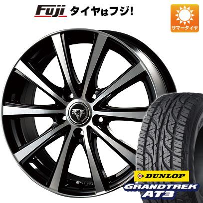 タイヤはフジ 送料無料 INTER MILANO インターミラノ レイジー XV 6.5J 6.50-16 DUNLOP グラントレック AT3 215/70R16 16インチ サマータイヤ ホイール4本セット