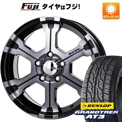 タイヤはフジ 送料無料 MKW MK-36 7J 7.00-16 DUNLOP グラントレック AT3 235/70R16 16インチ サマータイヤ ホイール4本セット