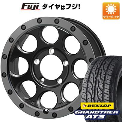 タイヤはフジ 送料無料 ジムニー MLJ エクストリームJ XJ03 5.5J 5.50-16 DUNLOP グラントレック AT3 175/80R16 16インチ サマータイヤ ホイール4本セット