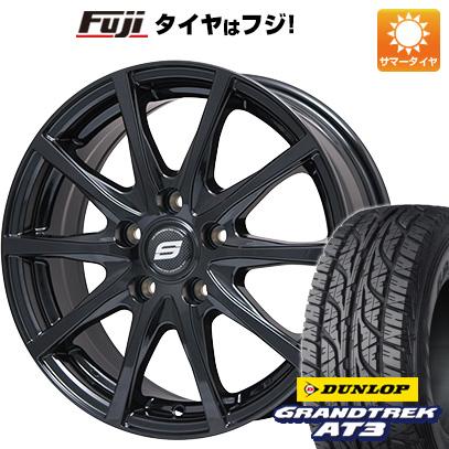 タイヤはフジ 送料無料 BRANDLE ブランドル M71B 6.5J 6.50-16 DUNLOP グラントレック AT3 215/70R16 16インチ サマータイヤ ホイール4本セット