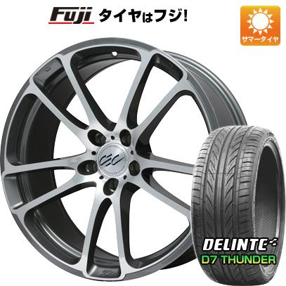 タイヤはフジ 送料無料 CEC C882 8.5J 8.50-20 DELINTE デリンテ D7 サンダー(限定) 225/35R20 20インチ サマータイヤ ホイール4本セット