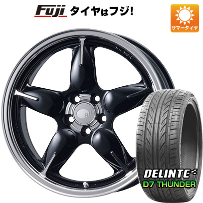 タイヤはフジ 送料無料 ENKEI エンケイ allシリーズ オールファイブ 7.5J 7.50-17 DELINTE デリンテ D7 サンダー(限定) 215/55R17 17インチ サマータイヤ ホイール4本セット