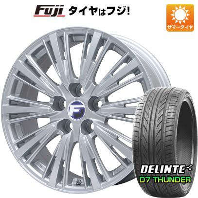 タイヤはフジ 送料無料 LEHRMEISTER レアマイスター L-Fスポーツ(シルバー) 7J 7.00-17 DELINTE デリンテ D7 サンダー(限定) 215/45R17 17インチ サマータイヤ ホイール4本セット