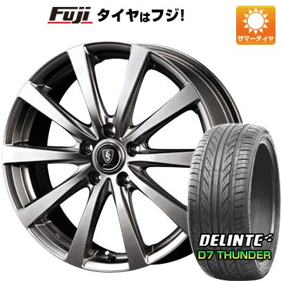 タイヤはフジ 送料無料 MID ユーロスピード G10 7J 7.00-18 DELINTE デリンテ D7 サンダー(限定) 225/45R18 18インチ サマータイヤ ホイール4本セット