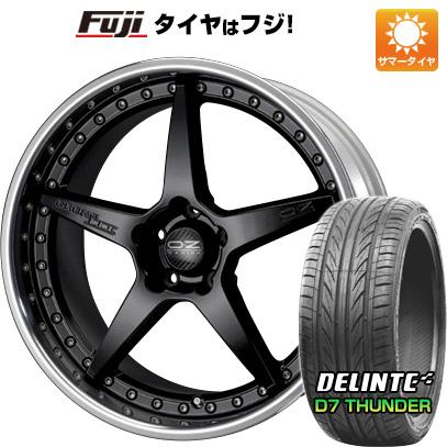 タイヤはフジ 送料無料 OZ クロノ3 F:8.50-20 R:9.50-20 DELINTE デリンテ D7 サンダー(限定) F:245/30R20 R:255/30R20 サマータイヤ ホイール4本セット
