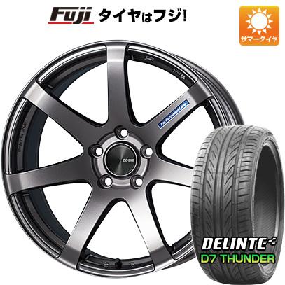 タイヤはフジ 送料無料 ENKEI エンケイ PF07 8J 8.00-19 DELINTE デリンテ D7 サンダー(限定) 225/40R19 19インチ サマータイヤ ホイール4本セット