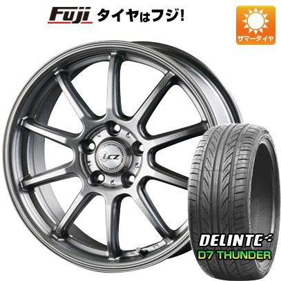 タイヤはフジ 送料無料 INTER MILANO インターミラノ LCZ 010 8J 8.00-18 DELINTE デリンテ D7 サンダー(限定) 225/45R18 18インチ サマータイヤ ホイール4本セット
