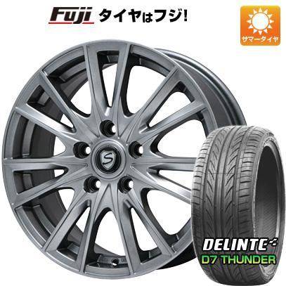 タイヤはフジ 送料無料 BRANDLE ブランドル 485 7J 7.00-17 DELINTE デリンテ D7 サンダー(限定) 205/50R17 17インチ サマータイヤ ホイール4本セット