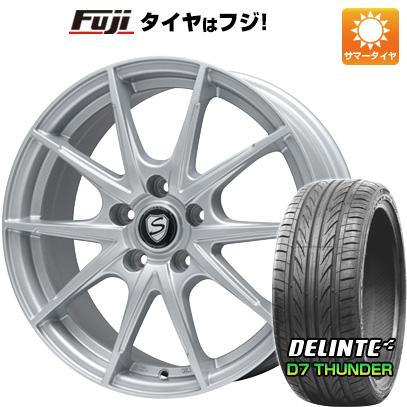 タイヤはフジ 送料無料 BRANDLE ブランドル 039 7.5J 7.50-18 DELINTE デリンテ D7 サンダー(限定) 215/40R18 18インチ サマータイヤ ホイール4本セット