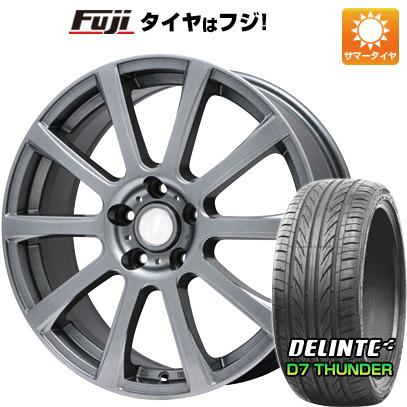 タイヤはフジ 送料無料 BRANDLE ブランドル 565T 7.5J 7.50-18 DELINTE デリンテ D7 サンダー(限定) 215/40R18 18インチ サマータイヤ ホイール4本セット