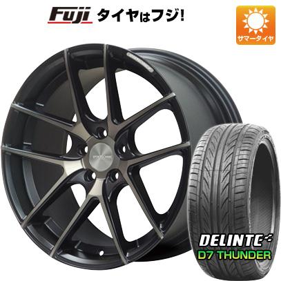タイヤはフジ 送料無料 SPORT TECHNIC スポーツテクニック M-005 8.5J 8.50-19 DELINTE デリンテ D7 サンダー(限定) 225/45R19 19インチ サマータイヤ ホイール4本セット