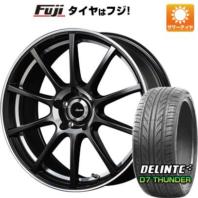 タイヤはフジ 送料無料 ADVANTI RACING アドヴァンティ・レーシング ヴィゴロッソ M993 7.5J 7.50-18 DELINTE デリンテ D7 サンダー(限定) 235/55R18 18インチ サマータイヤ ホイール4本セット