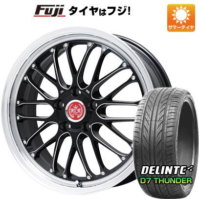 タイヤはフジ 送料無料 LEHRMEISTER レアマイスター ブルネッロ(ブラックエッジブラッシュド) 7.5J 7.50-19 DELINTE デリンテ D7 サンダー(限定) 215/35R19 19インチ サマータイヤ ホイール4本セット