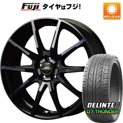 タイヤはフジ 送料無料 MID シュナイダー DR-01 8J 8.00-18 DELINTE デリンテ D7 サンダー(限定) 235/40R18 18インチ サマータイヤ ホイール4本セット