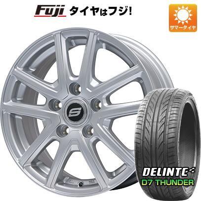 タイヤはフジ 送料無料 BRANDLE ブランドル M61 7.5J 7.50-18 DELINTE デリンテ D7 サンダー(限定) 225/45R18 18インチ サマータイヤ ホイール4本セット