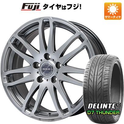 タイヤはフジ 送料無料 BRANDLE ブランドル G72 7J 7.00-17 DELINTE デリンテ D7 サンダー(限定) 215/45R17 17インチ サマータイヤ ホイール4本セット