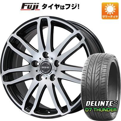 タイヤはフジ 送料無料 BRANDLE ブランドル G72B 7.5J 7.50-18 DELINTE デリンテ D7 サンダー(限定) 215/40R18 18インチ サマータイヤ ホイール4本セット