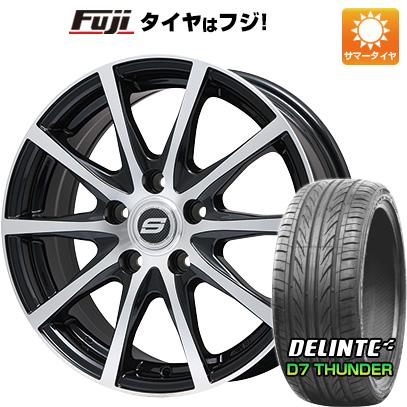 タイヤはフジ 送料無料 BRANDLE ブランドル M71BP 7.5J 7.50-18 DELINTE デリンテ D7 サンダー(限定) 225/45R18 18インチ サマータイヤ ホイール4本セット