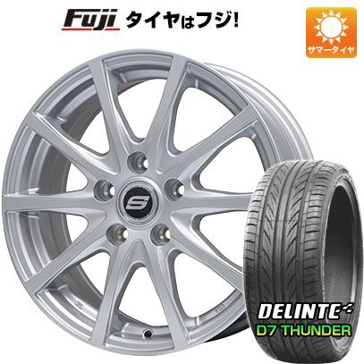 タイヤはフジ 送料無料 BRANDLE ブランドル M71 7.5J 7.50-18 DELINTE デリンテ D7 サンダー(限定) 215/35R18 18インチ サマータイヤ ホイール4本セット
