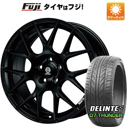 タイヤはフジ 送料無料 OZ SPARCO プロコルサ 8J 8.00-18 DELINTE デリンテ D7 サンダー(限定) 235/40R18 18インチ サマータイヤ ホイール4本セット