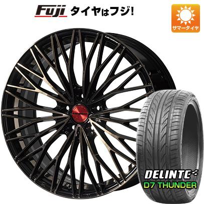 タイヤはフジ 送料無料 LEHRMEISTER レアマイスター ティニャネロ(パールブラック/ブロンズクリア) 7.5J 7.50-19 DELINTE デリンテ D7 サンダー(限定) 215/35R19 19インチ サマータイヤ ホイール4本セット