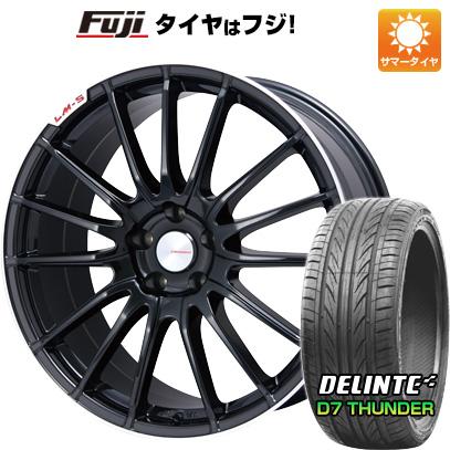タイヤはフジ 送料無料 LEHRMEISTER LM-S トレント15 (ブラック/リムポリッシュ) 7J 7.00-17 DELINTE デリンテ D7 サンダー(限定) 215/55R17 17インチ サマータイヤ ホイール4本セット