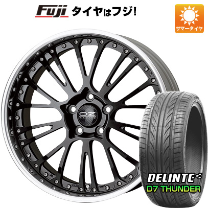タイヤはフジ 送料無料 OZ ボッティチェッリ3 F:9.50-20 R:11.50-20 DELINTE デリンテ D7 サンダー(限定) F:245/35R20 R:275/30R20 サマータイヤ ホイール4本セット