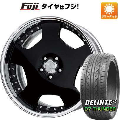 タイヤはフジ 送料無料 WORK ワーク ランベック LD1 F:8.00-19 R:9.00-19 DELINTE デリンテ D7 サンダー(限定) F:245/40R19 R:275/35R19 サマータイヤ ホイール4本セット
