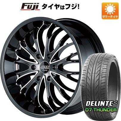 タイヤはフジ 送料無料 ハイエース200系 M-TECHNO エムテクノ M.T.S. キングダム F:8.50-20 R:9.00-20 DELINTE デリンテ D7 サンダー(限定) 225/35R20 20インチ サマータイヤ ホイール4本セット