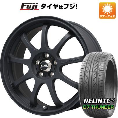 タイヤはフジ 送料無料 LEHRMEISTER レアマイスター LMスポーツファイナル(マットブラック) 8.5J 8.50-18 DELINTE デリンテ D7 サンダー(限定) 235/40R18 18インチ サマータイヤ ホイール4本セット