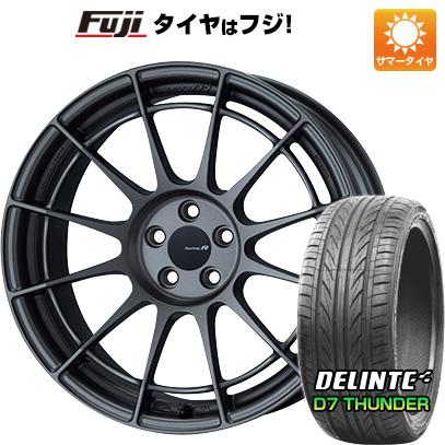 タイヤはフジ 送料無料 ENKEI エンケイ NT03 RR 8J 8.00-18 DELINTE デリンテ D7 サンダー(限定) 235/40R18 18インチ サマータイヤ ホイール4本セット