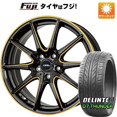タイヤはフジ 送料無料 HOT STUFF ホットスタッフ クロススピード プレミアムRS10 シングルマシニング 7J 7.00-17 DELINTE デリンテ D7 サンダー(限定) 215/45R17 17インチ サマータイヤ ホイール4本セット
