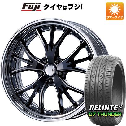 【あすつく】 タイヤはフジ 送料無料 MZ SPEED エムズスピード JJランチャ F:8.50-20 R:9.50-20 DELINTE デリンテ D7 サンダー(限定) F:245/30R20 R:275/30R20 サマータイヤ ホイール4本セット, ココチモの通販ショップ d502c3cf