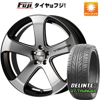 タイヤはフジ 送料無料 VENERDI ヴェネルディ ヴィゴーレ 8J 8.00-19 DELINTE デリンテ D7 サンダー(限定) 225/45R19 19インチ サマータイヤ ホイール4本セット