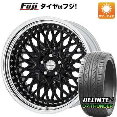 タイヤはフジ 送料無料 WORK ワーク グランシーカー CCX 8J 8.00-20 DELINTE デリンテ D7 サンダー(限定) 225/30R20 20インチ サマータイヤ ホイール4本セット