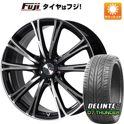 タイヤはフジ 送料無料 LEHRMEISTER レアマイスター ディチョット 7.5J 7.50-19 DELINTE デリンテ D7 サンダー(限定) 225/35R19 19インチ サマータイヤ ホイール4本セット