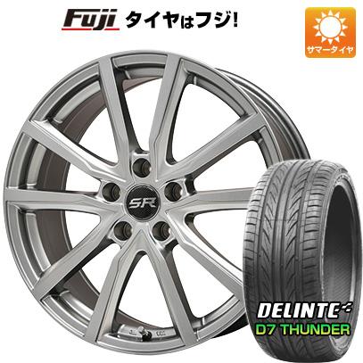 タイヤはフジ 送料無料 BRANDLE ブランドル N52 7.5J 7.50-18 DELINTE デリンテ D7 サンダー(限定) 215/40R18 18インチ サマータイヤ ホイール4本セット