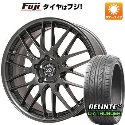 タイヤはフジ 送料無料 ENKEI エンケイ EKM3 7J 7.00-17 DELINTE デリンテ D7 サンダー(限定) 215/45R17 17インチ サマータイヤ ホイール4本セット