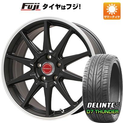 タイヤはフジ 送料無料 LEHRMEISTER レアマイスター LMスポーツRS10(マットブラックリムポリッシュ) 7.5J 7.50-18 DELINTE デリンテ D7 サンダー(限定) 215/35R18 18インチ サマータイヤ ホイール4本セット