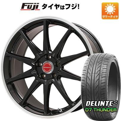 タイヤはフジ 送料無料 LEHRMEISTER レアマイスター LMスポーツRS10(グロスブラックリムポリッシュ) 7.5J 7.50-17 DELINTE デリンテ D7 サンダー(限定) 205/50R17 17インチ サマータイヤ ホイール4本セット